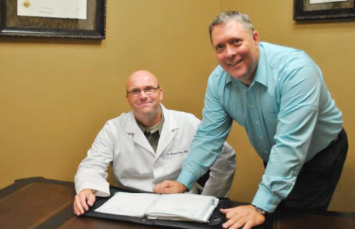Kip working with a medical client.