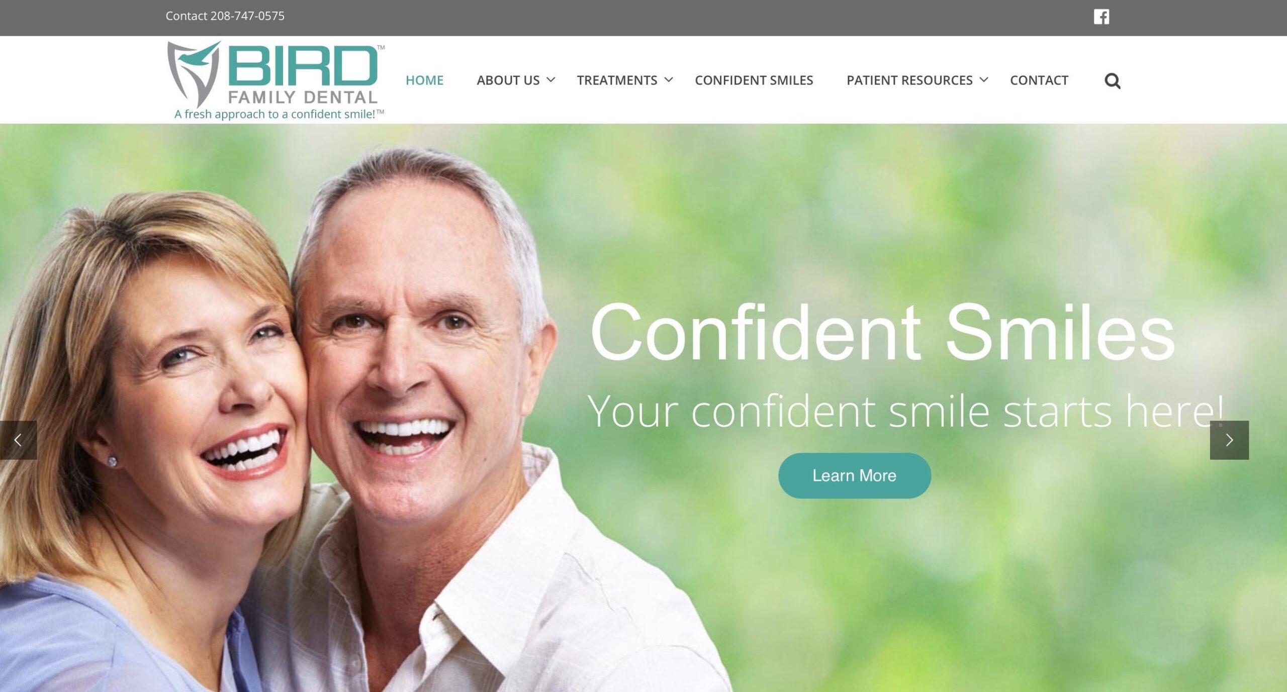 Marketing consultant - website developer project for Bird Family Dental
