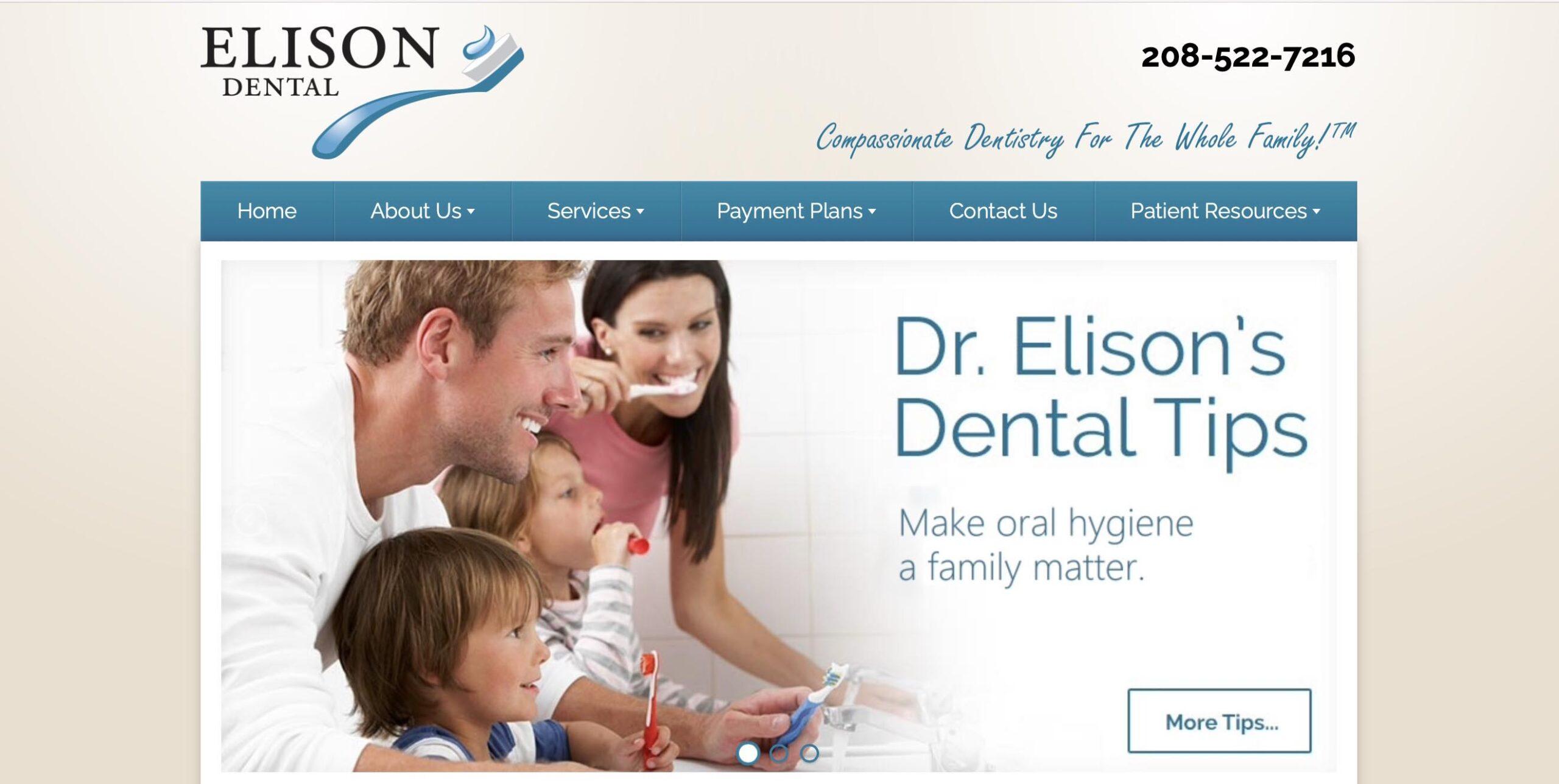 Marketing consultant - website developer project for Elison Dental Center