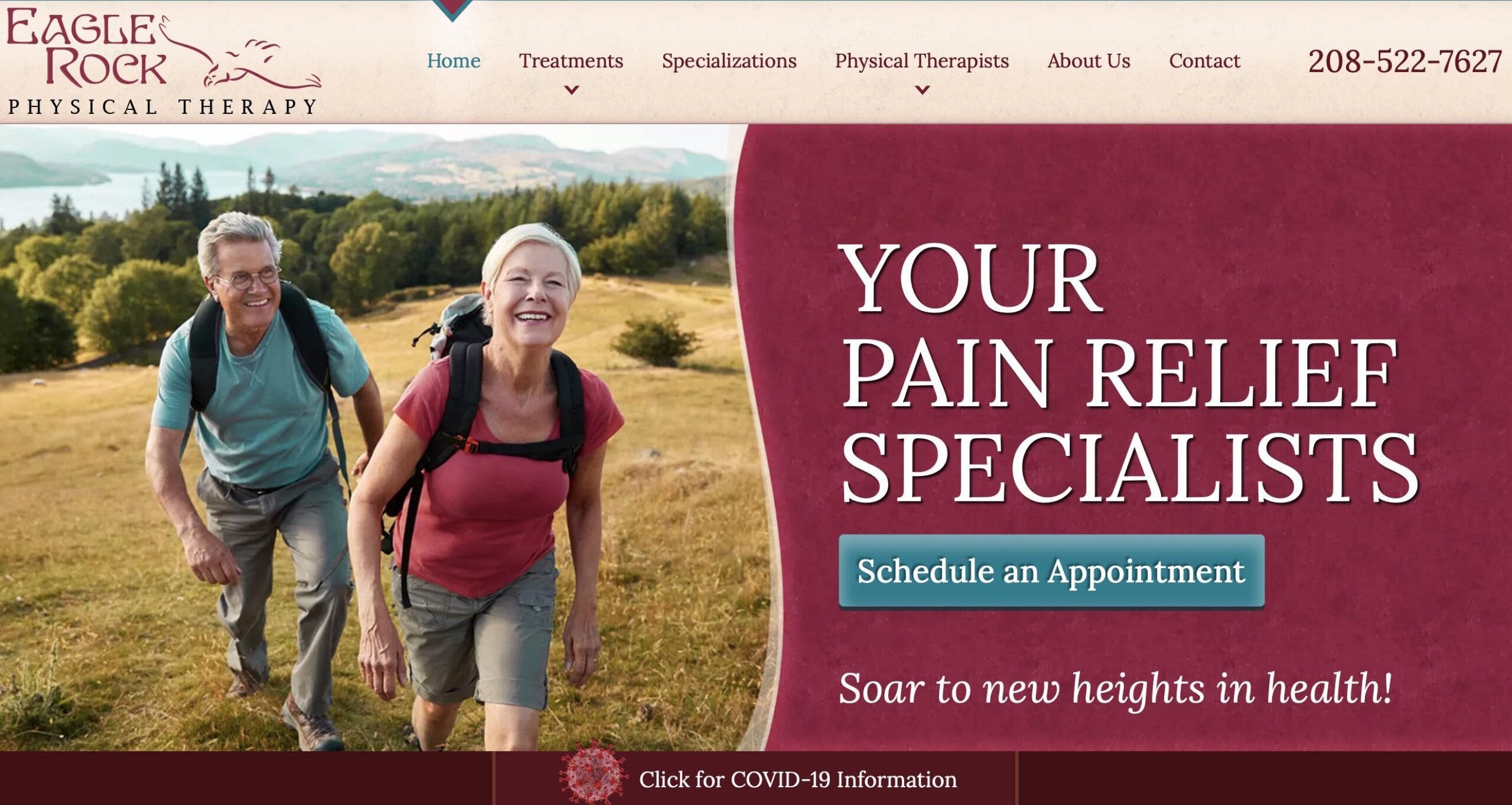 Marketing consultant - website developer project for Eagle Rock Physical Therapy