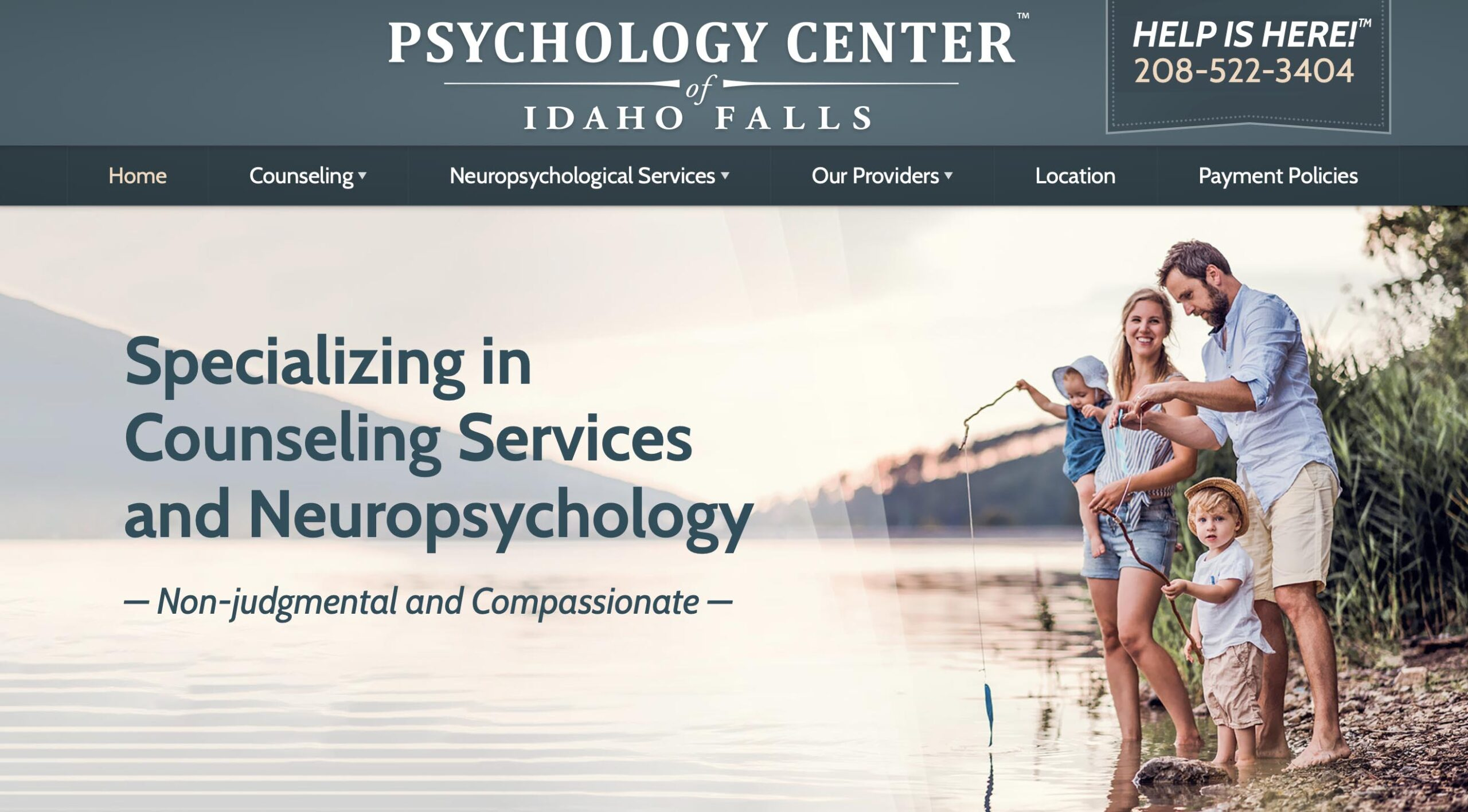 Marketing consultant - website developer project for Phychology Center of Idaho Falls