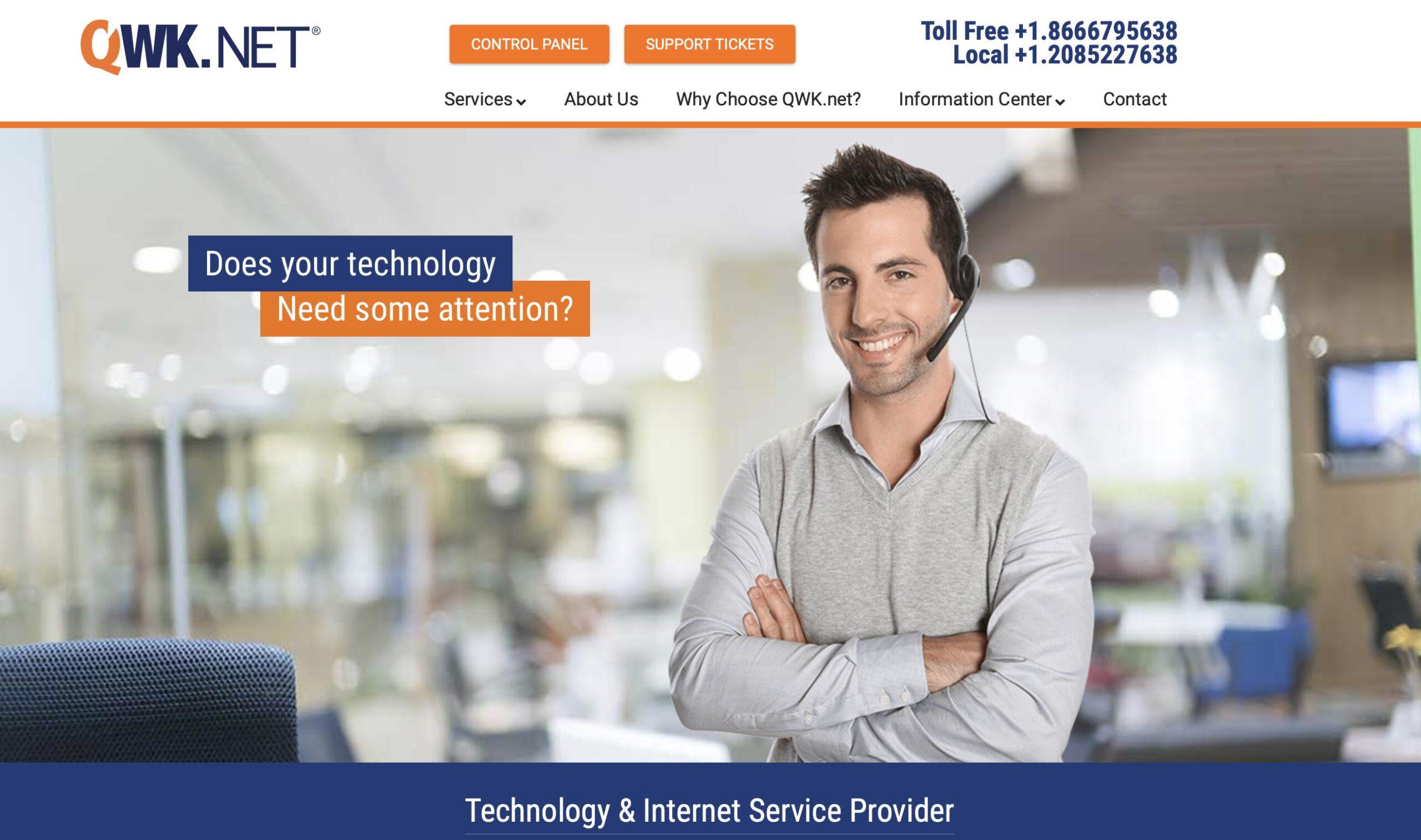 Marketing consultant - website developer project for QWK.net