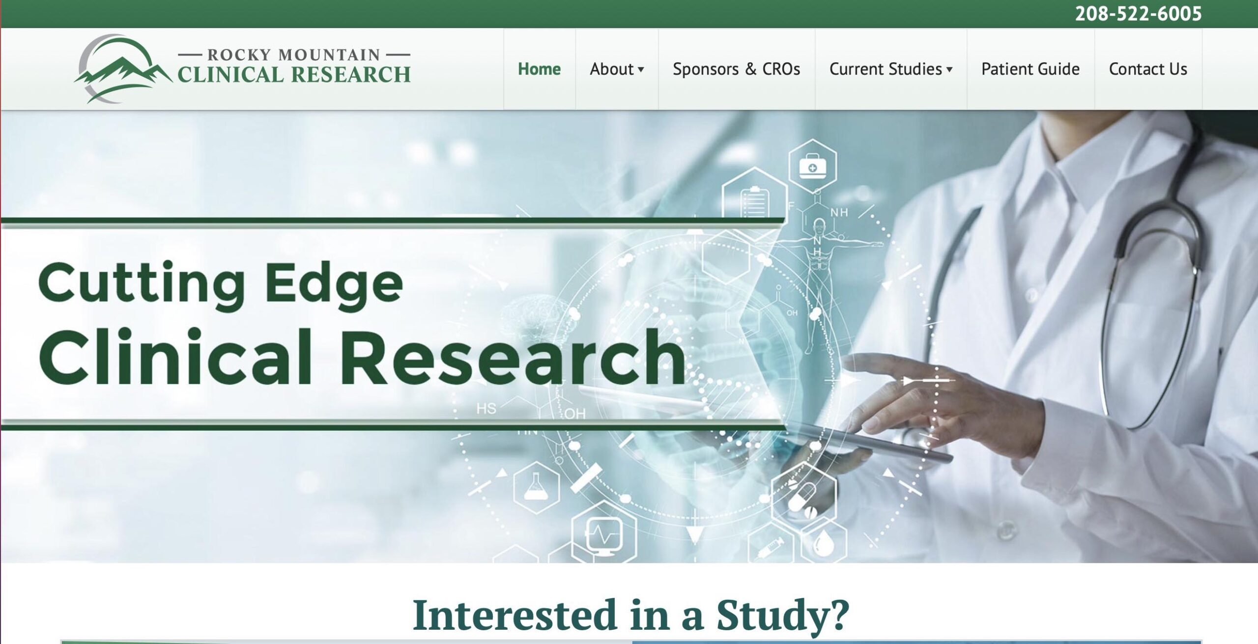 Marketing consultant - website developer project for Rocky Mountain Clinical Research