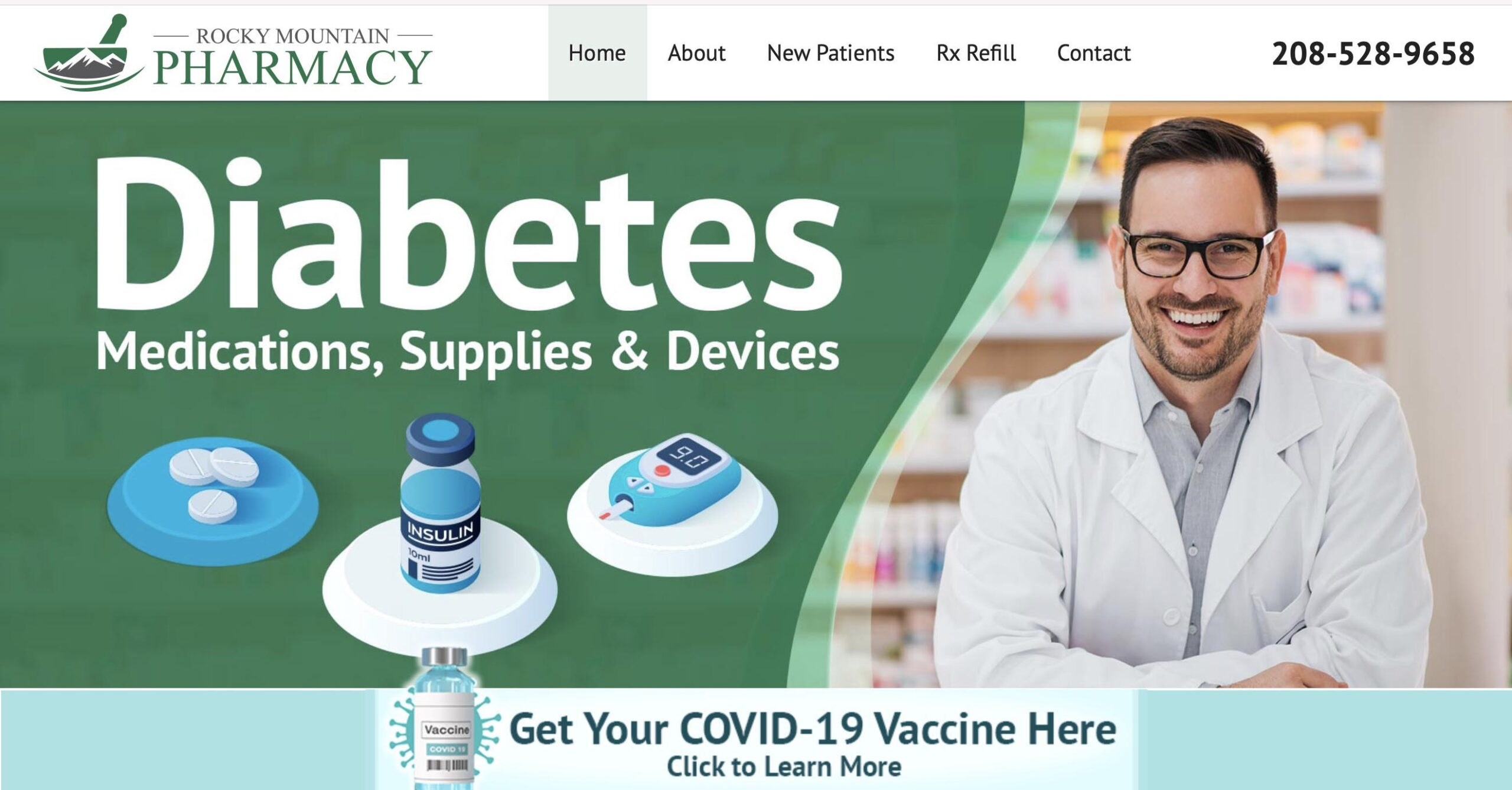 Marketing consultant - website developer project for Rocky Mountain Pharmacy