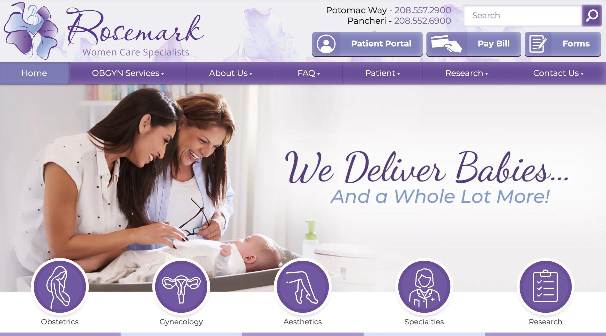 Marketing consultant - website developer project for Rosemark
